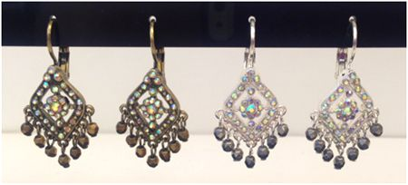 Joan Rivers Lavish Luxury Crystal Lever Back Earrings