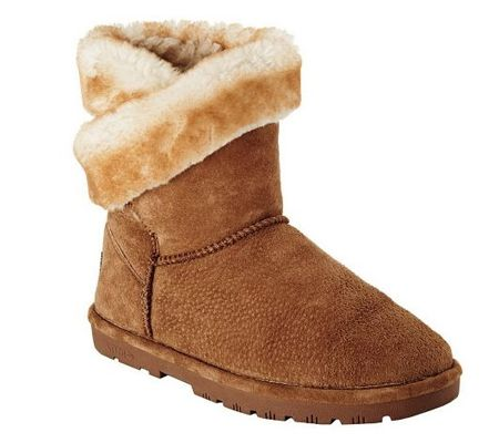 Lamo Wrap Suede Water Resistant Boots with Faux Fur - A226972