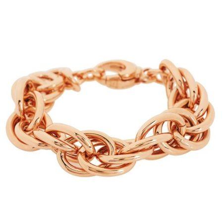 Bronzo Italia Polished Triple Rolo Link Bracelet - J272559