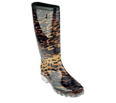 Bootsi Tootsi Leopard Print Rain Boots - A227696