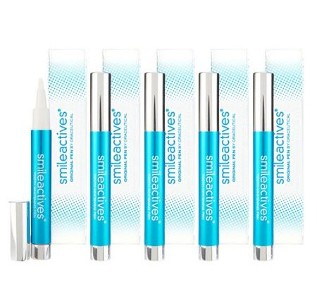 A228655 SmileActives Holiday Set of 5 Teeth Whitening Pens