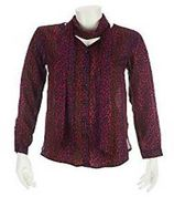 Bob Mackie's Ombre Leopard Print Blouse and Scarf