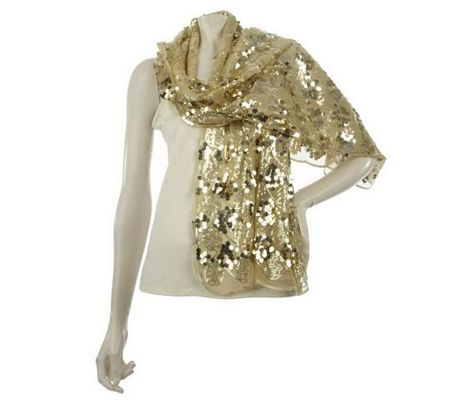 A211123 Metallic Glam Sequin Scarf