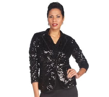 A215732 Touch of Sparkle Sequin Blazer