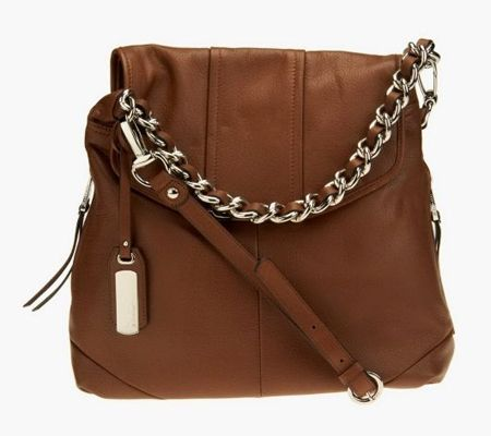 A225083 B Makowsky Glove Leather Flap Convertible Hobo Bag