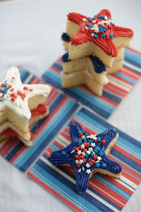 Patriotic Star Cut Out Cakes - Blogs & Forums