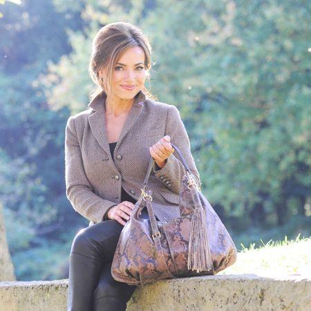 Brown Matte Snake Bag