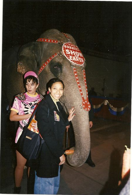 me with an elephant!