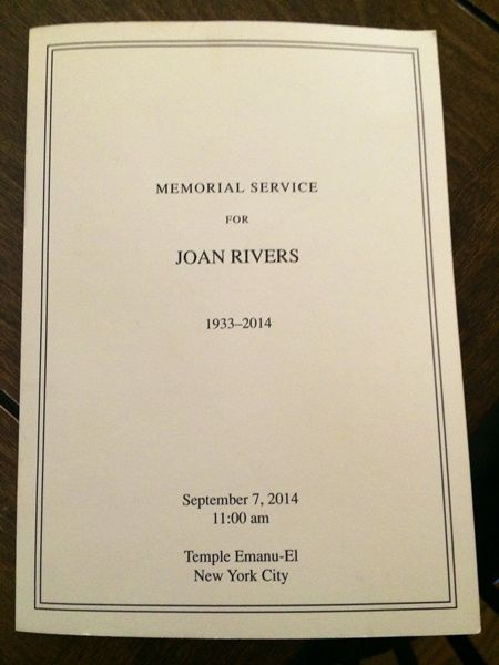 Joan Rivers Memorial Service