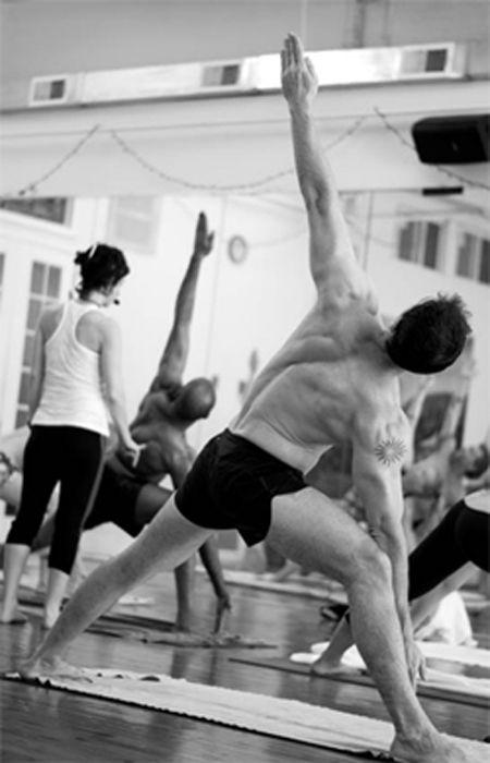 Liam doing Yoga