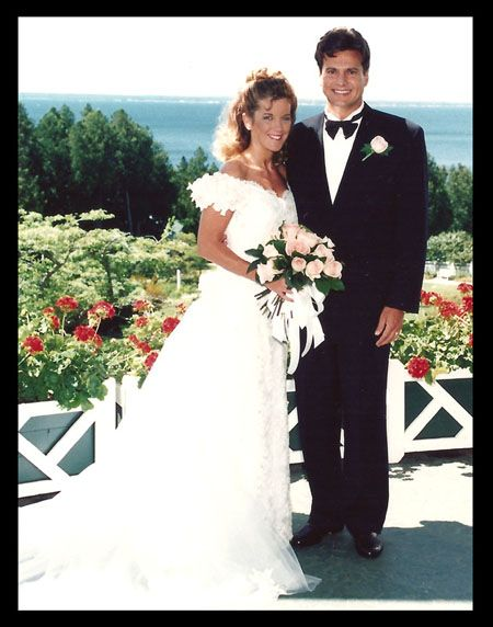Happily married husband and wife: Doug Dunne and Jill Bauer at their wedding