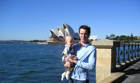 Steve with son in Sydney