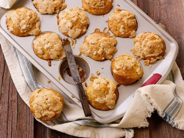 Apple Cinnamon Muffins with Caramel Centers