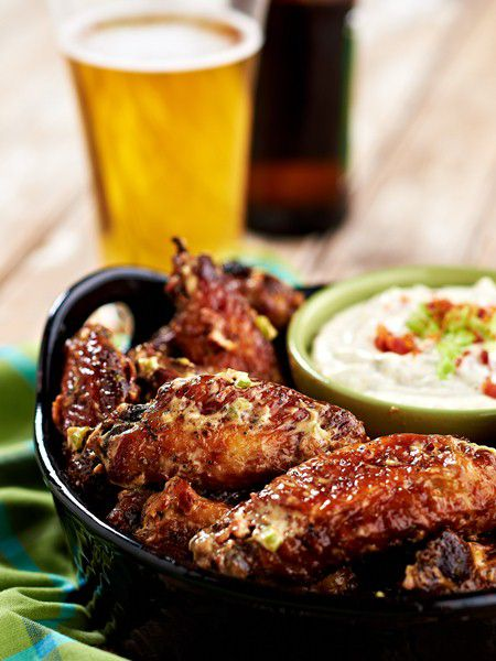 Bacon Ranch Chicken Wings