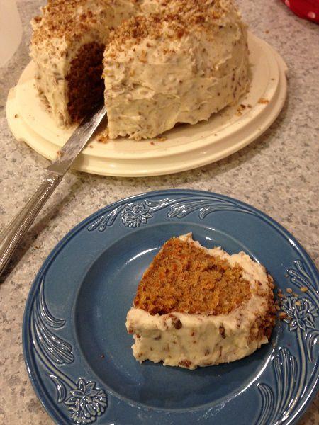 Pretty presentation: a carrot cake to crave