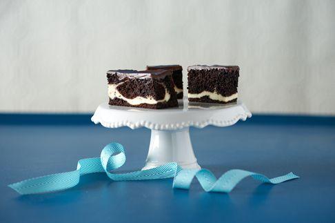 Chocolate Cream Cheese Ribbon Cake