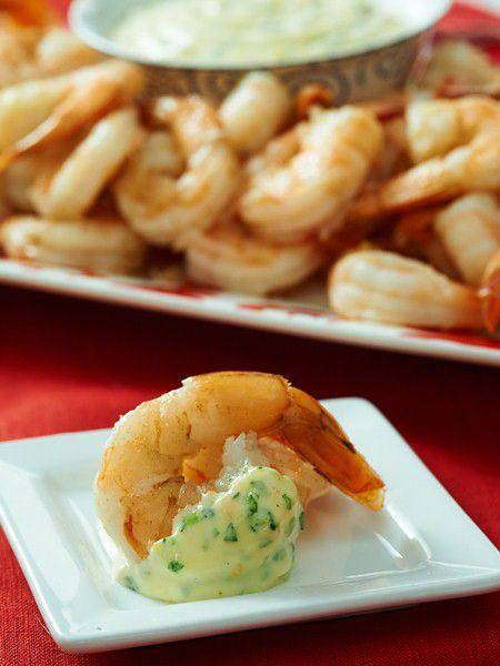 Citrus-Steamed Shrimp with Orange-Tarragon Aioli