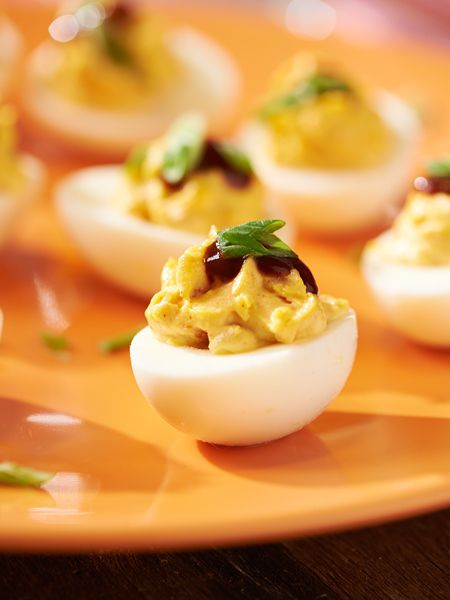 Smoky Bacon BBQ Deviled Eggs