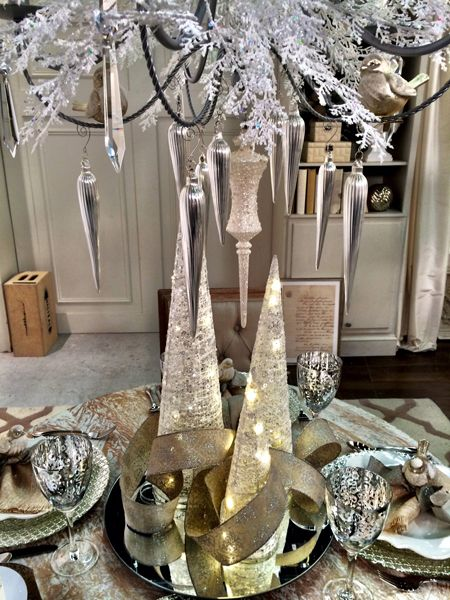 Sparkly White Trees & Decorations