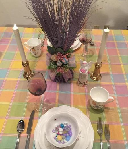Kim G's Easter Table