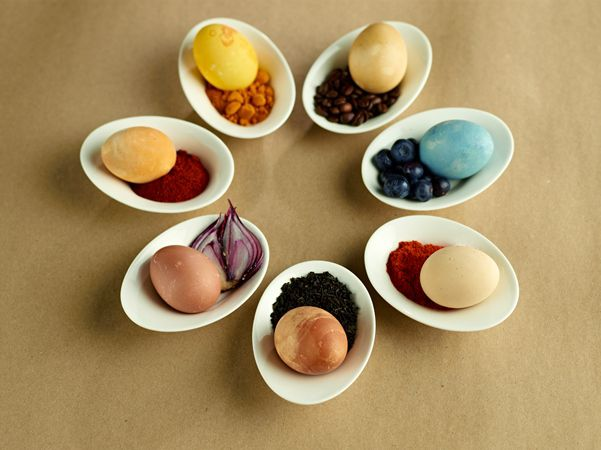 Natural-Dyed Easter Eggs