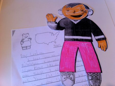 My task? -- return Flat Stanley to the class with proof of his