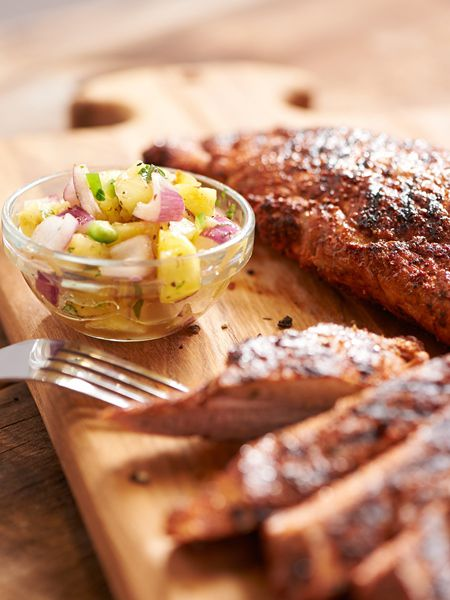 Grilled Pork Tenderloin with Pineapple Salsa
