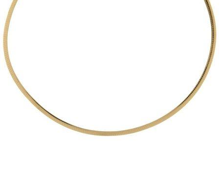 j270297-EternaGold Bold Polished 4MM Omega Necklace 14K Gold
