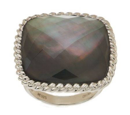 j271691-Honora Mother-of-Pearl Doublet Cushion Shape Sterling Ring