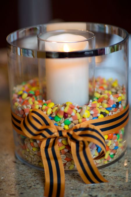 Fall Centerpiece with Harvest Trail Mix