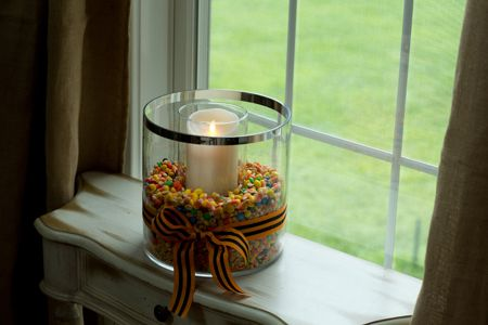 DIY Fall Centerpiece with Harvest Trail Mix