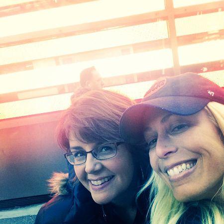 A selfie of Jill Bauer and Jill Martin