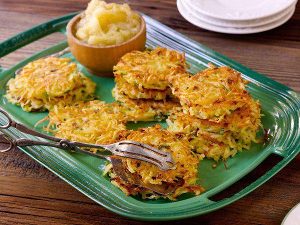Potato Latkes with Applesauce