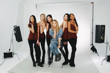 Lindsay with all the models