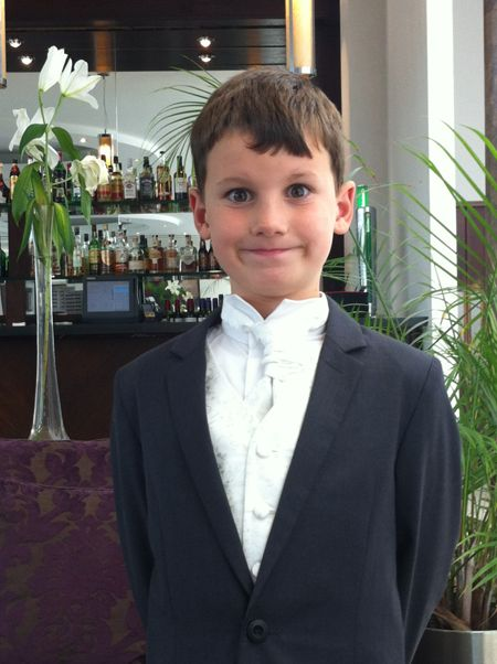 My son, Theo, at my brother's wedding.