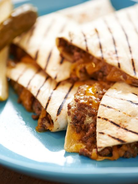 Grilled Cheeseburger Quesadillas