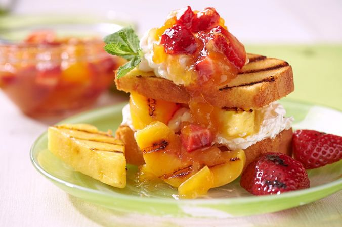 Grilled Fruit Shortcake