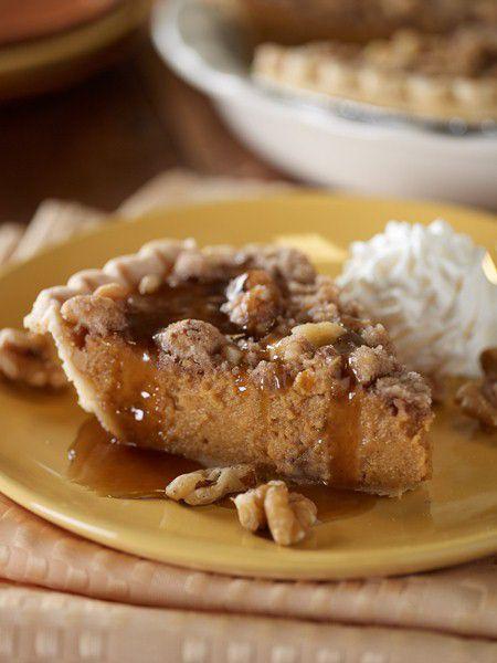 Sweet Potato Pie with Walnut-Streusel Topping