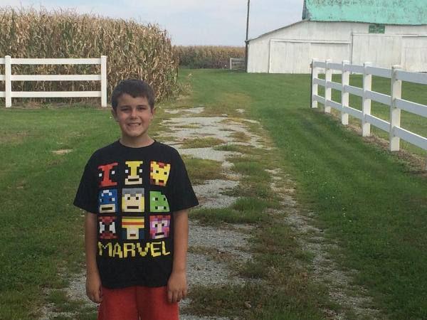 Trevor at the Farm