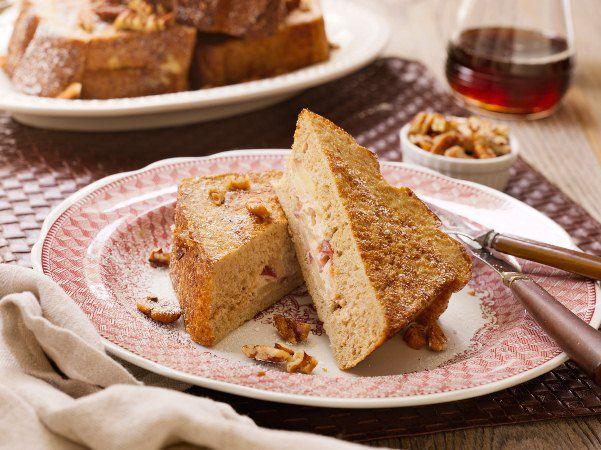 Warm Cinnamon Apple Stuffed French Toast