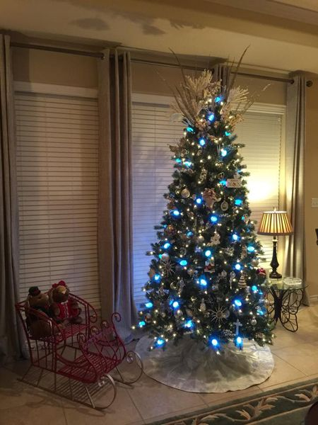 Blue Lights and Silver Ornaments