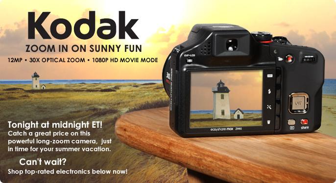 Kodak 12MP 30x Optical Zoom Digital Camera with 1080p HD Movie Mode