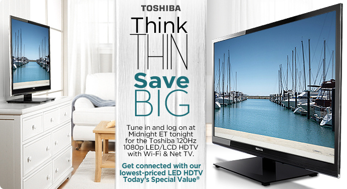 Toshiba 120Hz 1080p LED/LCD HDTV with Wi-Fi & Net TV
