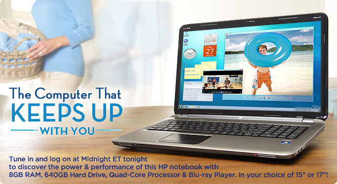 HP Notebook w/ AMD Quad-Core,8GB RAM,640GB HD Blu-Ray,9-Cell battery