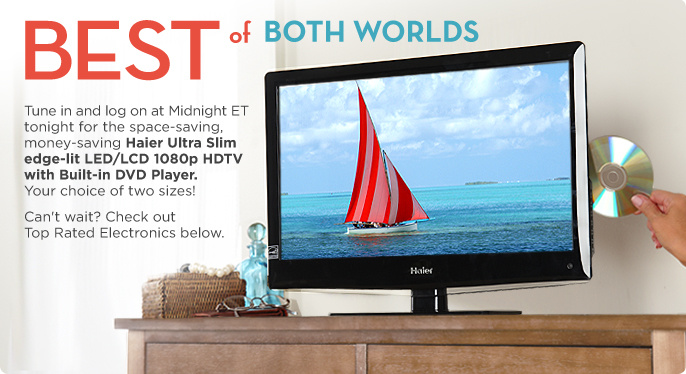 Haier Ultra Slim edge-lit LED/LCD 1080p HDTV with Built-in DVD Player