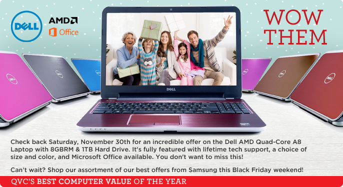 Dell 15'' or 17'' Laptop Win 8.1 AMD A8 Quad Core 8GB RAM