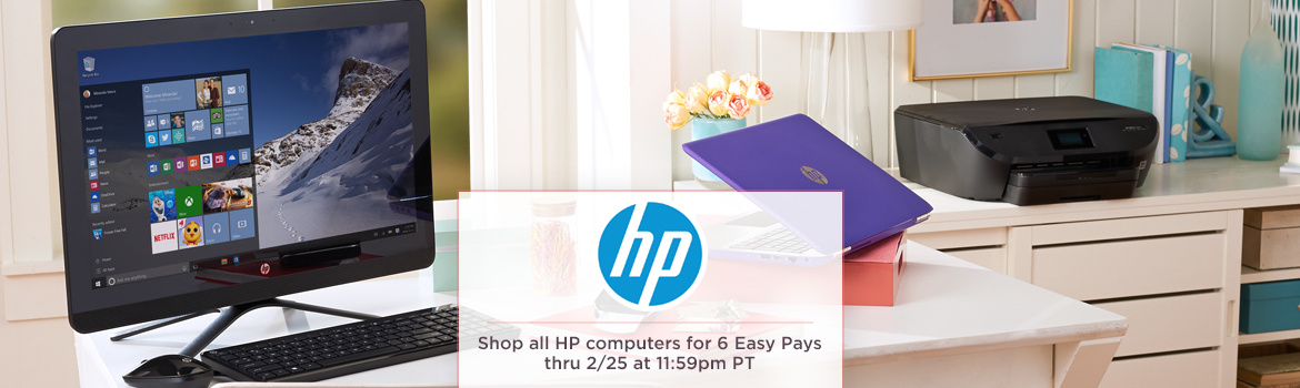 HP   Shop all HP computers for 6 Easy Pays thru 2/25 at 11:59pm PT