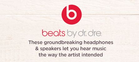 Beats by Dr. Dre,  These groundbreaking headphones & speakers let you hear music the way the artist intended