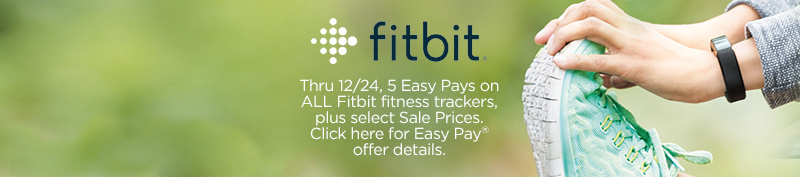 fitbit.  Thru 12/24, 5 Easy Pays on ALL Fitbit fitness trackers, plus select Sale Prices.  Click here for Easy Pay® offer details.