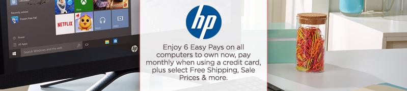 HP. Enjoy 6 Easy Pays on all computers to own now, pay monthly when using a credit card, plus select Free Shipping, Sale Prices & more